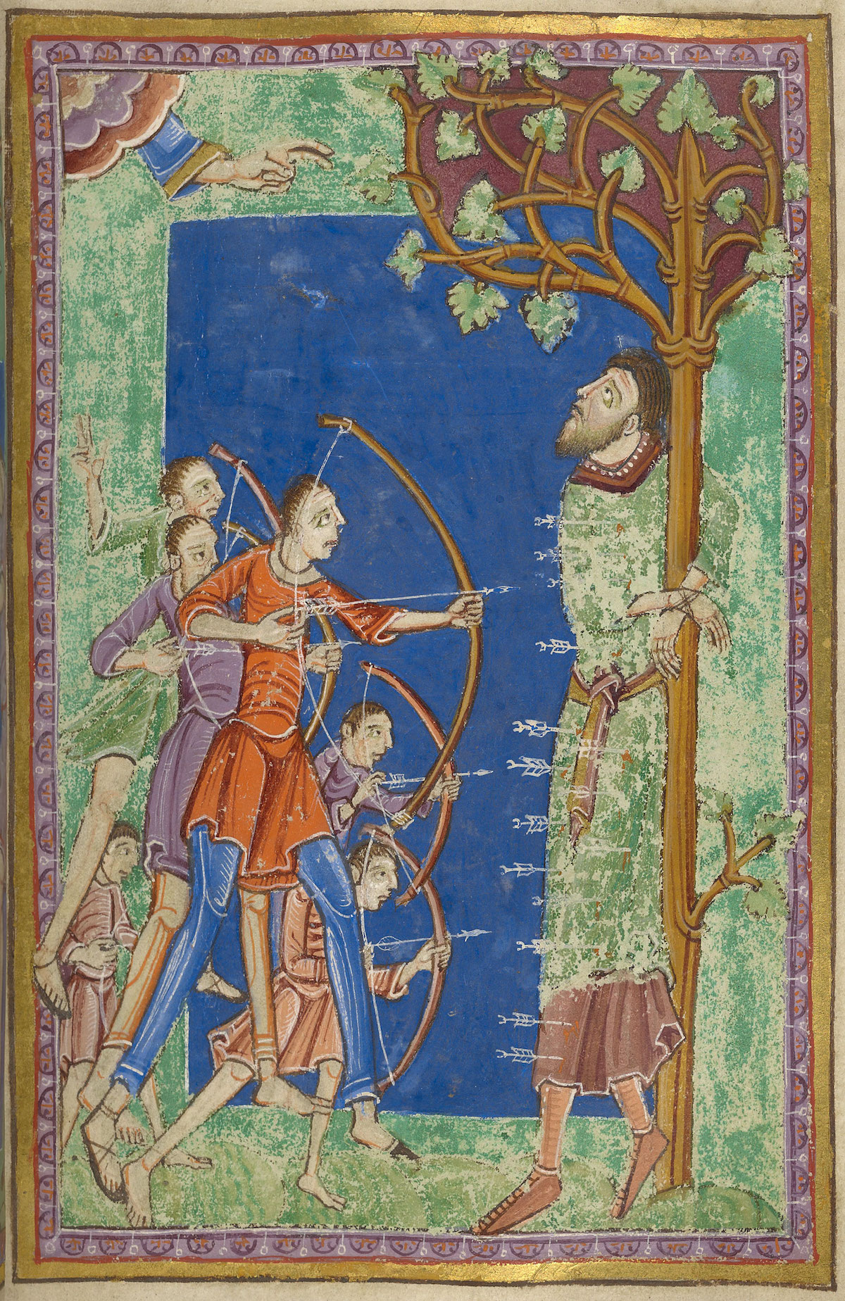 The martyrdom of St. Edmund at the hands of Vikings