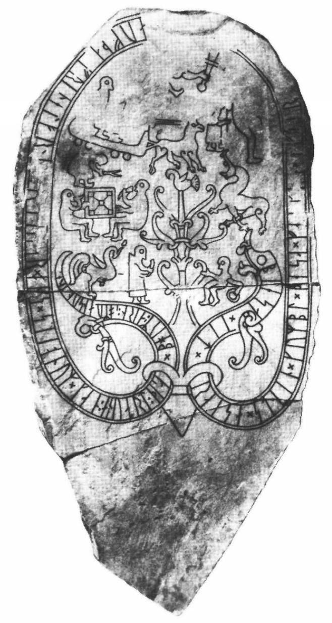 Runestone at Ockelbo likely depicting a boardgame